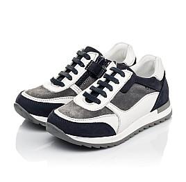 Детские кросівки Woopy Fashion белые для мальчиков натуральная кожа, замша размер 23-33 (5100) Фото 3