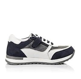 Детские кроссовки Woopy Fashion белые для мальчиков натуральная кожа, замша размер 23-33 (5100) Фото 5