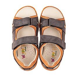 Детские босоножки Woopy Fashion серые для мальчиков натуральный нубук размер 22-31 (5101) Фото 5