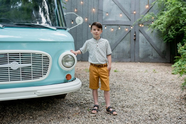 Мальчик обут в детские босоножки Woopy Fashion серые (5101) Фото 1