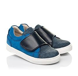Детские кеди Woopy Fashion синие для мальчиков натуральный нубук размер 19-25 (5102) Фото 1
