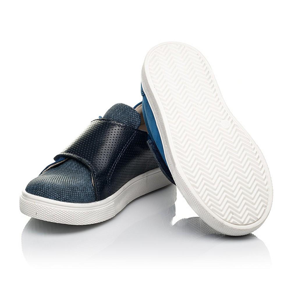 Детские кеды Woopy Fashion синие для мальчиков натуральный нубук размер 19-30 (5102) Фото 2