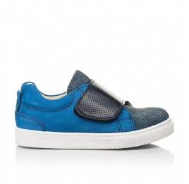 Детские кеды Woopy Fashion синие для мальчиков натуральный нубук размер 19-30 (5102) Фото 4