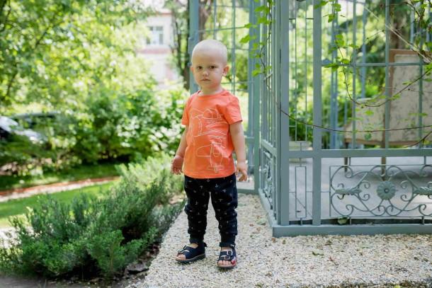 Мальчик обут в детские босоножки Woopy Orthopedic синие (5105) Фото 1
