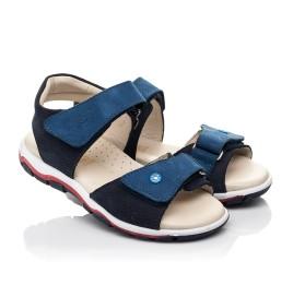 Детские босоножки Woopy Fashion синие для мальчиков натуральный нубук размер 26-36 (5106) Фото 1