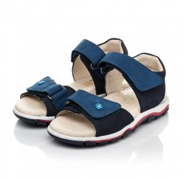 Детские босоножки Woopy Fashion синие для мальчиков натуральный нубук размер 26-36 (5106) Фото 3