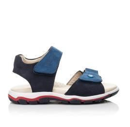Детские босоножки Woopy Fashion синие для мальчиков натуральный нубук размер 26-36 (5106) Фото 4
