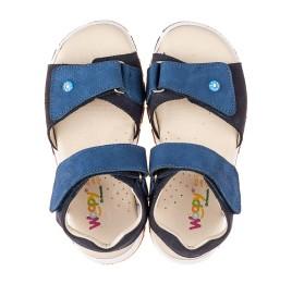 Детские босоножки Woopy Fashion синие для мальчиков натуральный нубук размер 26-36 (5106) Фото 5