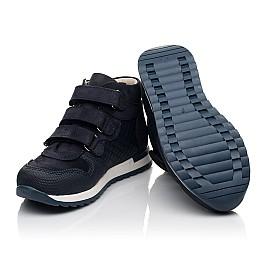 Детские демисезонные ботинки (подкладка кожа) Woopy Fashion синие для мальчиков натуральный нубук размер 21-39 (5108) Фото 2
