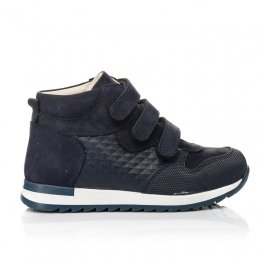 Детские демісезонні черевики (підкладка шкіра) Woopy Fashion синие для мальчиков натуральный нубук размер 21-39 (5108) Фото 4