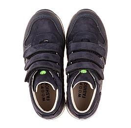 Детские демисезонные ботинки (подкладка кожа) Woopy Fashion синие для мальчиков натуральный нубук размер 21-39 (5108) Фото 5