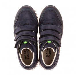 Детские демісезонні черевики (підкладка шкіра) Woopy Fashion синие для мальчиков натуральный нубук размер 21-39 (5108) Фото 5