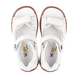 Детские босоніжки Woopy Orthopedic белые для девочек натуральная кожа размер 22-36 (5110) Фото 5