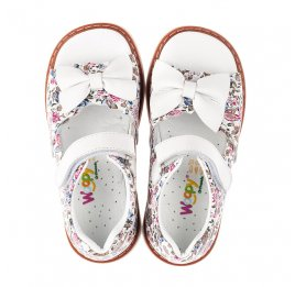 Детские босоніжки Woopy Orthopedic белые для девочек натуральная кожа размер 19-33 (5111) Фото 5