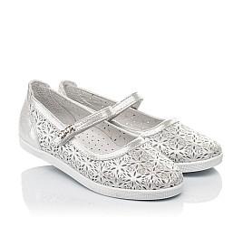 Детские туфли Woopy Fashion серебряные для девочек натуральный нубук размер 29-35 (5112) Фото 1