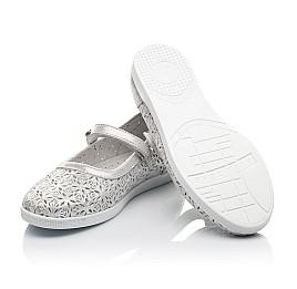 Детские туфли Woopy Fashion серебряные для девочек натуральный нубук размер 29-35 (5112) Фото 2