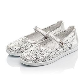 Детские туфли Woopy Fashion серебряные для девочек натуральный нубук размер 29-35 (5112) Фото 3