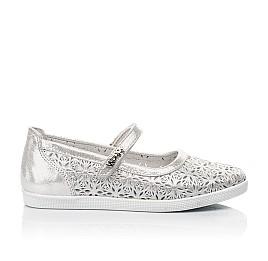 Детские туфли Woopy Fashion серебряные для девочек натуральный нубук размер 29-35 (5112) Фото 4