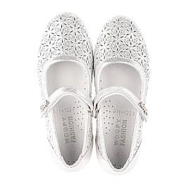 Детские туфли Woopy Fashion серебряные для девочек натуральный нубук размер 29-35 (5112) Фото 5