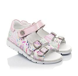 Детские босоніжки Woopy Fashion разноцветные для девочек натуральный нубук размер 21-30 (5113) Фото 1