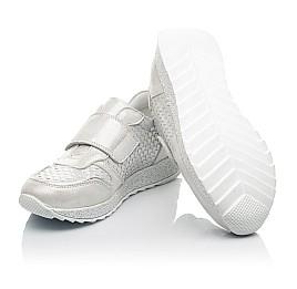 Детские кроссовки Woopy Fashion серебряные для девочек натуральный нубук размер 32-39 (5114) Фото 2