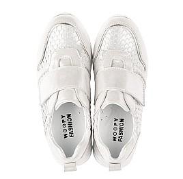 Детские кроссовки Woopy Fashion серебряные для девочек натуральный нубук размер 32-39 (5114) Фото 5