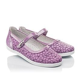 Детские туфли Woopy Fashion фиолетовые для девочек натуральный нубук размер 28-35 (5115) Фото 1