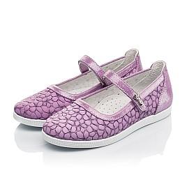 Детские туфли Woopy Fashion фиолетовые для девочек натуральный нубук размер 28-35 (5115) Фото 3
