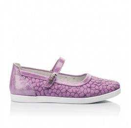 Детские туфли Woopy Fashion фиолетовые для девочек натуральный нубук размер 28-35 (5115) Фото 4