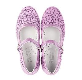 Детские туфли Woopy Fashion фиолетовые для девочек натуральный нубук размер 28-35 (5115) Фото 5