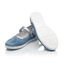 Детские туфли Woopy Fashion голубые для девочек натуральная кожа размер 31-37 (5116) Фото 2