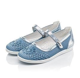 Детские туфли Woopy Fashion голубые для девочек натуральная кожа размер 31-37 (5116) Фото 3