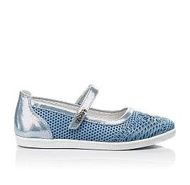 Детские туфли Woopy Fashion голубые для девочек натуральная кожа размер 31-37 (5116) Фото 4