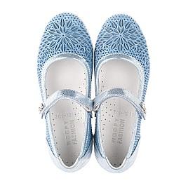 Детские туфли Woopy Fashion голубые для девочек натуральная кожа размер 31-37 (5116) Фото 5