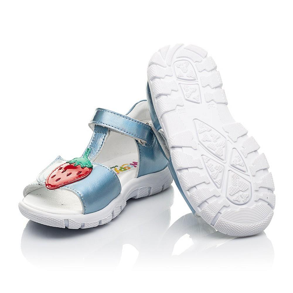 Детские босоножки Woopy Fashion голубые для девочек натуральная кожа размер 21-30 (5117) Фото 2
