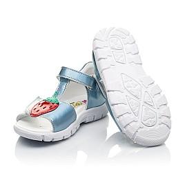 Детские босоніжки Woopy Fashion голубые для девочек натуральная кожа размер 21-30 (5117) Фото 2