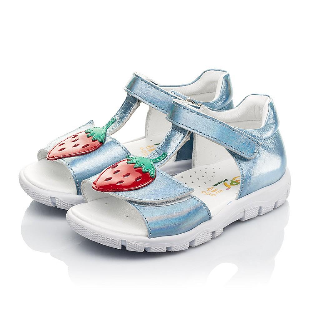 Детские босоножки Woopy Fashion голубые для девочек натуральная кожа размер 21-30 (5117) Фото 3