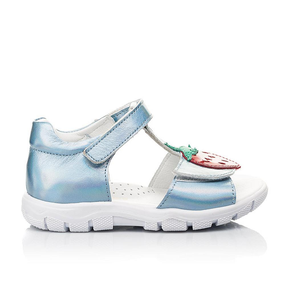 Детские босоножки Woopy Fashion голубые для девочек натуральная кожа размер 21-30 (5117) Фото 4