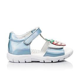 Детские босоніжки Woopy Fashion голубые для девочек натуральная кожа размер 21-30 (5117) Фото 4