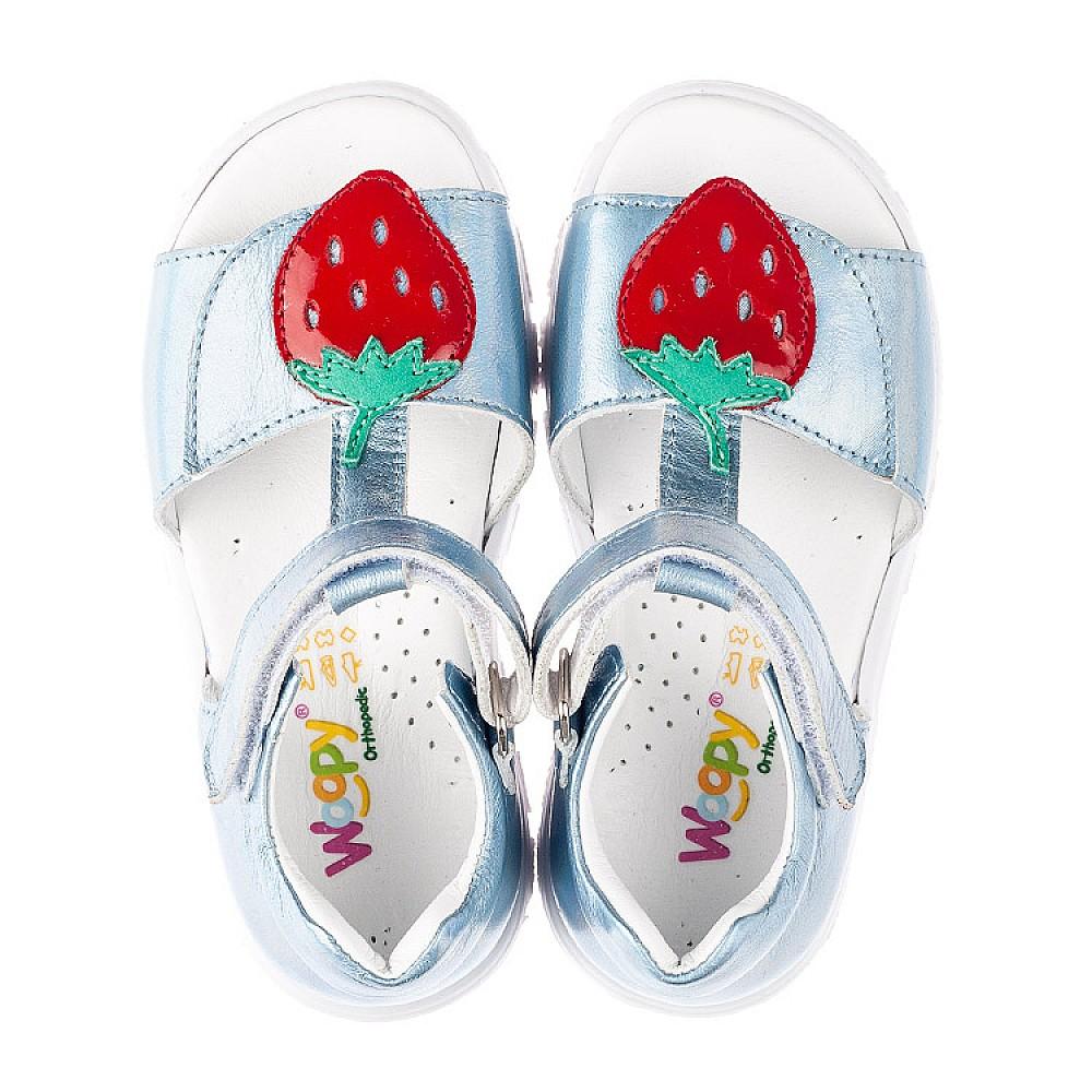 Детские босоножки Woopy Fashion голубые для девочек натуральная кожа размер 21-30 (5117) Фото 5