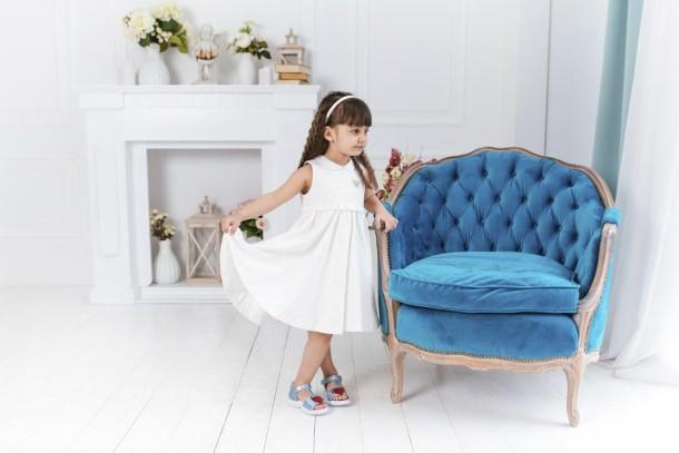 Девочка обута в детские босоножки Woopy Fashion голубые (5117) Фото 2