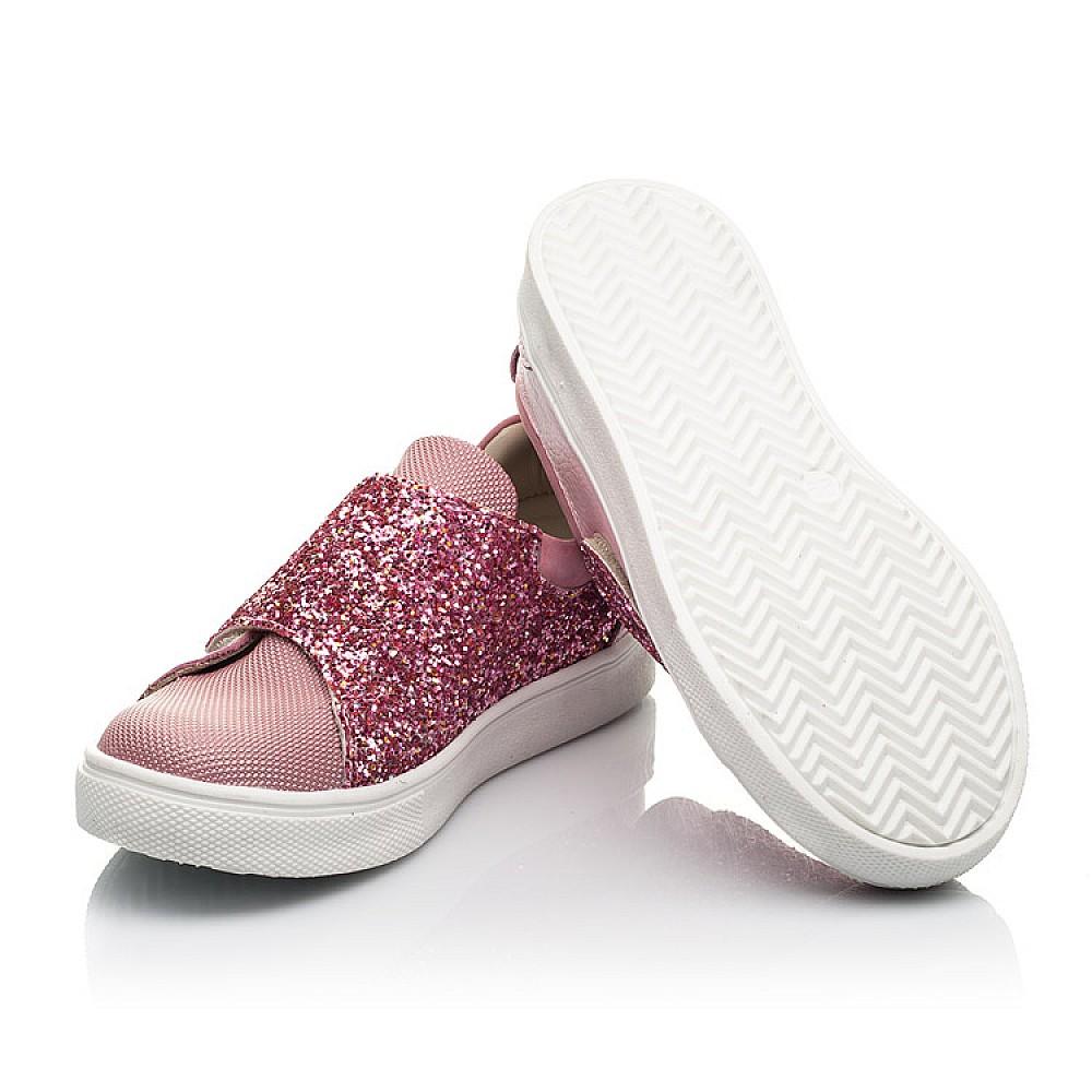 Детские кеды Woopy Fashion розовые для девочек натуральная кожа и нубук размер 18-34 (5118) Фото 2