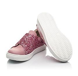 Детские кеди Woopy Fashion розовые для девочек  натуральная кожа и нубук размер 18-34 (5118) Фото 2