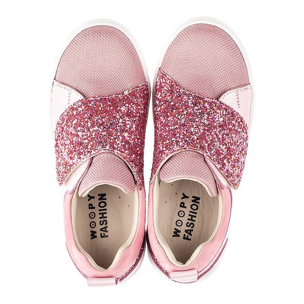 Детские кеды Woopy Fashion розовые для девочек натуральная кожа и нубук размер 18-34 (5118) Фото 5