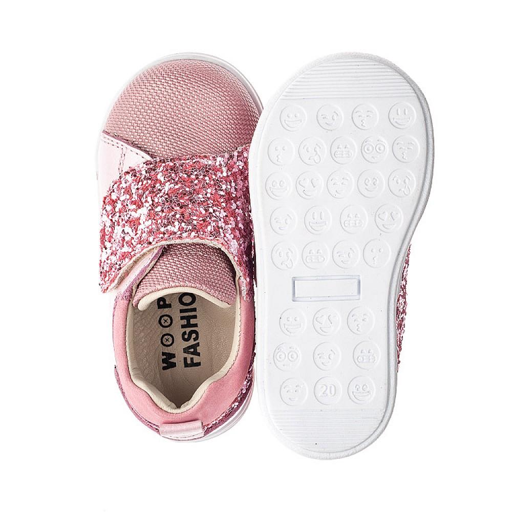 Детские кеды Woopy Fashion розовые для девочек натуральная кожа и нубук размер 18-34 (5118) Фото 6