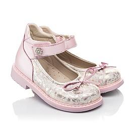 Детские туфлі Woopy Orthopedic розовые для девочек  натуральная кожа и нубук размер 19-36 (5119) Фото 1