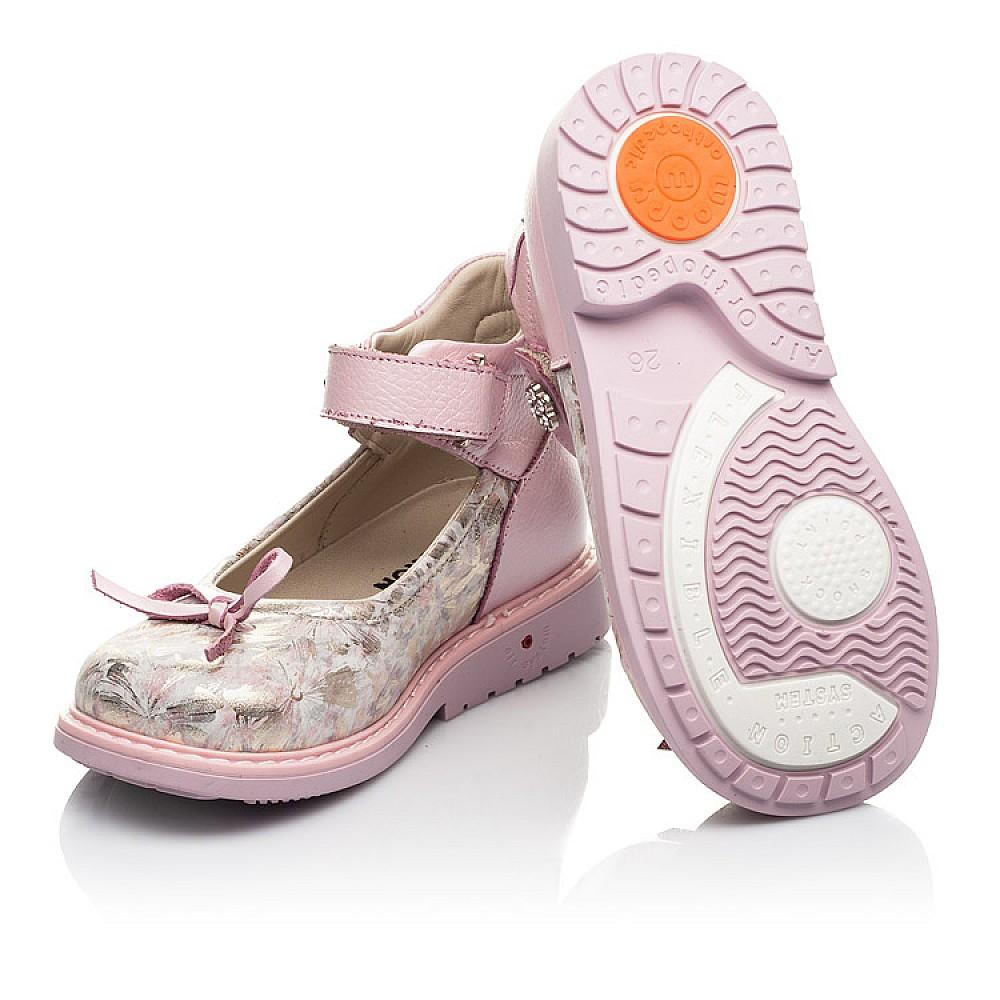 Детские туфли Woopy Orthopedic розовые для девочек натуральная кожа и нубук размер 19-36 (5119) Фото 2
