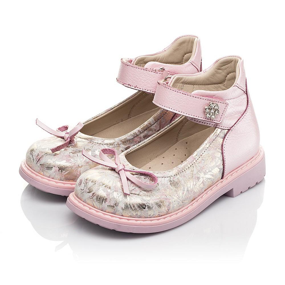 Детские туфли Woopy Orthopedic розовые для девочек натуральная кожа и нубук размер 19-36 (5119) Фото 3