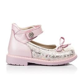 Детские туфлі Woopy Orthopedic розовые для девочек  натуральная кожа и нубук размер 19-36 (5119) Фото 4