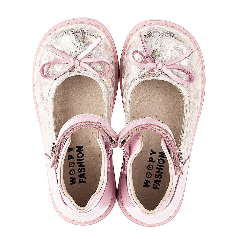 Детские туфли Woopy Orthopedic розовые для девочек натуральная кожа и нубук размер 19-36 (5119) Фото 5